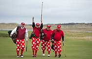 The World Hickory Open Championship (Tuesday 22nd – Thursday 24th October 2019)<br /> <br /> Day 1 Tuesday 22nd Oct<br /> <br /> Record international field attending 15th World Hickory Open Championship<br /> on Scotland's Golf Coast<br /> <br /> This year's Open will be played over 3 rounds on Kilspindie, Gullane 2 & 3. The whole field will play over Kilspindie on Tuesday and the field will be split into two groups on Wednesday & Thursday with players rotating between the two courses on each day. This will be an individual strokeplay event with handicap adjustments. There will be prizes for Professional and Amateur alike.<br /> <br /> Pic caption: Team Canada Dave Brownlee, Dave Finn, Keith Adams and Gary Markoff<br /> <br /> <br /> <br />  Neil Hanna Photography<br /> www.neilhannaphotography.co.uk<br /> 07702 246823 Please contact Neil Hanna for pricing