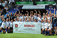 Rugby Union - 2018 / 2019 season - Gill Burns Division 1 Final Sussex v Yorkshire Women<br /> <br /> Yorkshire team celebrate, at Twickenham.<br /> Yorkshire Captain , Tilly Churm lifts the trophy<br /> <br /> COLORSPORT/ANDREW COWIE