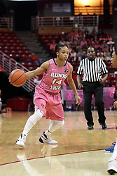 05 February 2016: Lexie Taylor(14). Illinois State University Women's Redbird Basketball team hosted the Sycamores of Indiana State for a Play4 Kay game at Redbird Arena in Normal Illinois.
