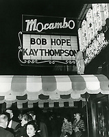 1955 Marque at Mocambo Nightclub on Sunset Blvd. in West Hollywood