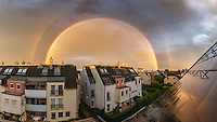 Mega double rainbow over Leskygasse / Vienna<br /> 17.06.2016