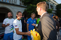 Roman Kejzar and Miro Cerar during reception of Slovenian Olympic Team at Vila Podroznik when they came back from Rio de Janeiro after Summer Olympic games 2016, on August 26, 2016 in Ljubljana, Slovenia. Photo by Matic Klansek Velej / Sportida