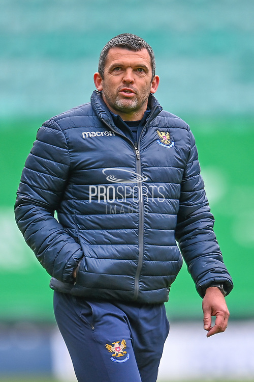 Callum Davidson, manager of St Johnstone FC walks off thew field after the final whistle of the SPFL Premiership match between Hibernian and St Johnstone at Easter Road Stadium, Edinburgh, Scotland on 1 May 2021.