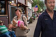 European tourist visit Silverton, Colorado for the first time.