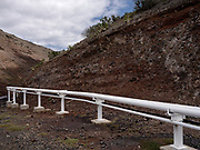 """The Gas Pipeline in Rupert, the industrial Area of the Island<br /> <br /> St. Helena is a volcanic outcrop and its varying nature from semi-arid desert to jungle, to rolling green hills, is beautiful. The wildlife is unique: you can swim with docile whale sharks, watch the endemic ire Bird and visit Jonathan, the 187-year-old tortoise, the world's oldest-recorded living land animal, who since the new year has had his own Twitter account (@Jonathan_onStH).<br /> <br /> All of its attributes – tropical, volcanic, mountainous and moonlike – can be found in equal measure. This may explain why Charles Darwin waxed lyrical about St. Helena in his memoir """"The Voyage Of The Beagle"""", and why astronomer Edmond Halley set up a marquee observatory on Diana's Peak. With zero light pollution, the skies are a feast of huge, twinkling stars.<br /> <br /> The Napoleon connection is anyway the main reason for visiting. After his defeat at the Battle of Waterloo in June 1815, the French Emperor Napoleon Bonaparte was exiled to St. Helena and arrived in October 1815. He died and was buried there in May 1821. In 1840, his body was exhumed and returned to France.<br /> <br /> The 200th anniversary of Napoleon's death (May 2021) should bring a much-needed increase in tourists. Tourism is also supposed to boost efforts towards the island becoming more self-sufficient and less isolated. If this can drag the island out of an economic slump, then so much the better."""