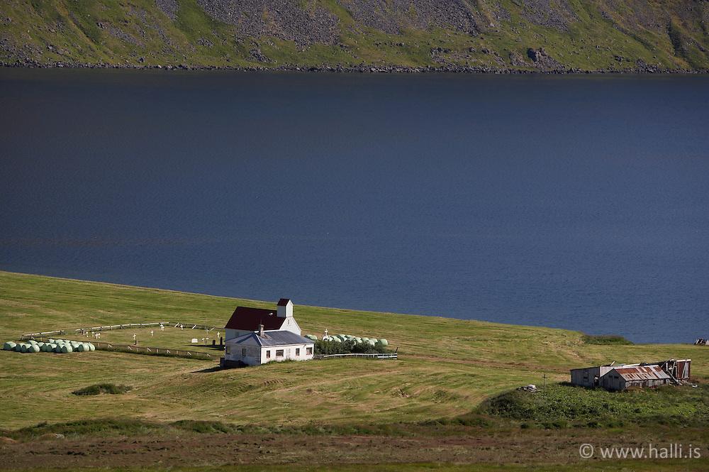 The farm Eyri in Seydisfjordur, west fjords of Iceland - Staðurinn Eyri við Seyðisfjörð á Vestfjörðum