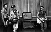 Paul Simonon and Joe Strummer The Clash backstage at the Manchester Apollo 1980