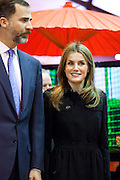 Prince Felipe and Princess Letizia attended the 33rd edition of the international Tourism fair (FITUR) in Madrid.