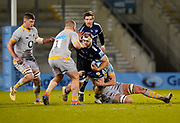 Sale Sharks Wiil-Griff John is tackled during the Gallagher Premiership Rugby match Sale Sharks -V- Wasps  at The AJ Bell Stadium, Greater Manchester, England United Kingdom, Sunday, December 27, 2020. (Steve Flynn/Image of Sport)