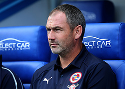 Reading Manager Paul Clement prepares for kick off during the pre-season friendly match at the Madejski Stadium, Reading.