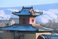 Mongolie. Ulaan Batar (Oulan Bator). Monastere de Choijin Lama.  // Mongolia. Ulaan Batar. Choijin Lama Monastery.