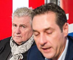 08.04.2014, Wien, AUT, FPOe, Andreas Moelzer tritt nicht als Spitzenkandidat der FPOe zur EU-Wahl an. im Bild Archivbild waehrend einer Pressekonferenz vom 10.01.2014 v.l.n.r. Andreas Moelzer und Klubobmann FPOe Heinz-Christian Strache // file photo of Andreas Moelzer and Leader of the parliamentary group FPOe Heinz Christian Strache during an FPOe press conference on 2014/01/10. Andreas Moelzer is not compete for EU-Election as FPOe Topcandidate. Vienna, Austria on 2014/04/08. EXPA Pictures © 2014, PhotoCredit: EXPA/ Michael Gruber