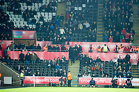 Football - 2016 / 2017 Premier League - Swansea City vs. AFC Bournemouth<br /> <br /> Swansea lfans exit the stands  after Bournemouth score their 3rd ---, at the Liberty Stadium.<br /> <br /> COLORSPORT/WINSTON BYNORTH