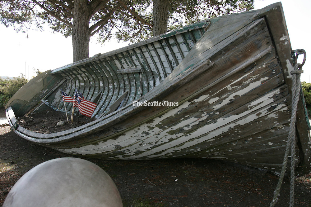 A boat at rest on the beach in Port Ludlow. <br /> <br /> Ken Lambert / The Seattle Times