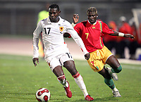 Fotball<br /> 20.11.2007<br /> Angola v Guinea<br /> Foto: Dppi/Digitalsport<br /> NORWAY ONLY<br /> <br /> FOOTBALL - FRIENDLY GAMES 2007/2008 - ANGOLA v GUINEA - 20/11/2007 - ZE KALANGA (ANG) / FODE MANSARE (GUI)