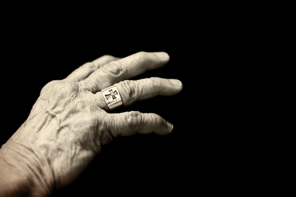 Phyllis Tickle's hand<br /> <br /> Photo by Courtney Perry