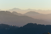 View of Himalayan ranges seen from Jakhoo Temple in Shimla, India