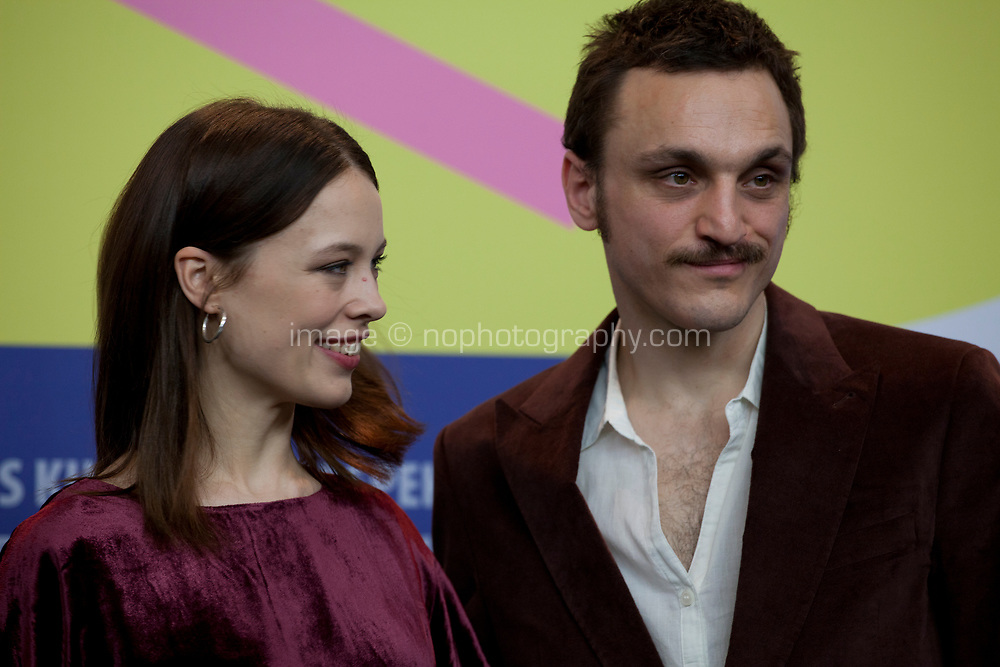 Actress Paula Beer and actor Franz Rogowski at the press conference for the film Undine at the 70th Berlinale International Film Festival, on Sunday 23rd February 2020, Hotel Grand Hyatt, Berlin, Germany. Photo credit: Doreen Kennedy