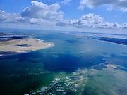 Nederland, Noord-Holland, Texel 07-05-2021; het Marsdiep (tussen Den Helder en Texel, links). <br /> The Marsdiep (between Den Helder and Texel, on the left). <br /> luchtfoto (toeslag op standard tarieven);<br /> aerial photo (additional fee required)<br /> copyright © 2021 foto/photo Siebe Swart