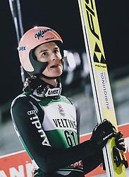 28.02.2020, Salpausselkae Hill, Lahti, FIN, FIS Weltcup Ski Sprung, Herren, im Bild Karl Geiger (GER) // Karl Geiger of Germany during the men's FIS Ski Jumping World Cup at the Salpausselkae Hill in Lahti, Finland on 2020/02/28. EXPA Pictures © 2020, PhotoCredit: EXPA/ JFK