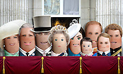 """These royal portraits created by the finger artist DITO VON TEASE<br />known as """"il Dito"""", thatÕs Italian for Òthe FingerÓ. a funny invitation to people to be curious about the complex mystery of personal identities ...  <br /><br />Photo shows: Royal Group<br />©Exclusivepix Media"""