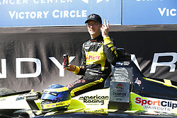 March 11, 2018 - St. Petersburg, Florida, United States of America - March 11, 2018 - St. Petersburg, Florida, USA: Sébastien Bourdais (18) celebrates after winning the Firestone Grand Prix of St. Petersburg at Streets of St. Petersburg in St. Petersburg, Florida. (Credit Image: © Justin R. Noe Asp Inc/ASP via ZUMA Wire)