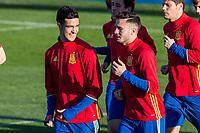 Mikel Merino and Saul iniguez during the training of Spanish national team under 21 at Ciudad del El futbol  in Madrid, Spain. March 21, 2017. (ALTERPHOTOS / Rodrigo Jimenez)