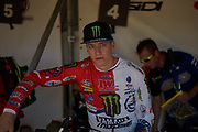 Ben Watson waiting behind the gate for the second moto.