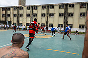 2000 prisoners spend years in Marrey prison (Guarulhos - Sao Paulo)  for crimes of theft and principally drug dealing. Football is taken very seriously in the prison. They have their own competition and if any serious misdemeanour is carried out they are deprived of the one activity they are all passionate about: Football.