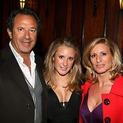 NLD/Amsterdam/20080407 - Modeshow Percy Irausquin 2008, Chantel Bles en haar ouders