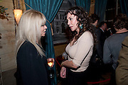 Jo Wood; Marie Helvin, Criterion Restaurant  celebrates its 135th anniversary. Piccadilly Circus. London. 2 February 2010