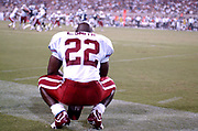 Emmitt Smith plays in his first game as an Arizona Cardinal against his former team, the Dallas Cowboys. The Cardinals defeated the Cowboys, 13-0, at Sun Devil Stadium at Arizona State University on Saturday, Aug. 9, 2003.