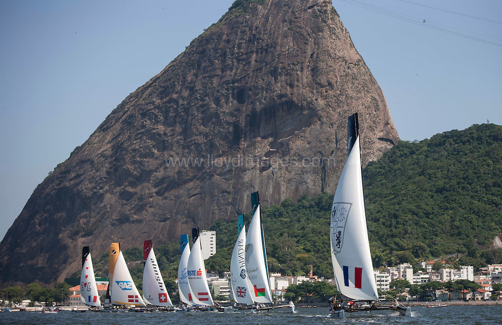 7th December, 2012. Rio de Janeiro, Brazil..Extreme Sailing Series 2012, Act 8..Credit: Lloyd Images.