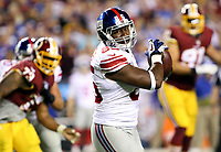 September 25, 2014: New York Giants tight end Daniel Fells (85) in action during a match between the Washington Redskins and the New York Giants at FedEx Field in Landover, Maryland. NFL American Football Herren USA SEP 25 Giants at Redskins PUBLICATIONxINxGERxSUIxAUTxHUNxRUSxSWExNORxONLY Icon140925099<br />
