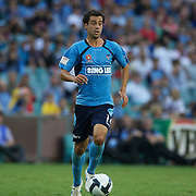 in action during the Sydney FC V Adelaide United A-League match at the Sydney Football Stadium, Sydney, Australia, 27 December 2009. Photo Tim Clayton