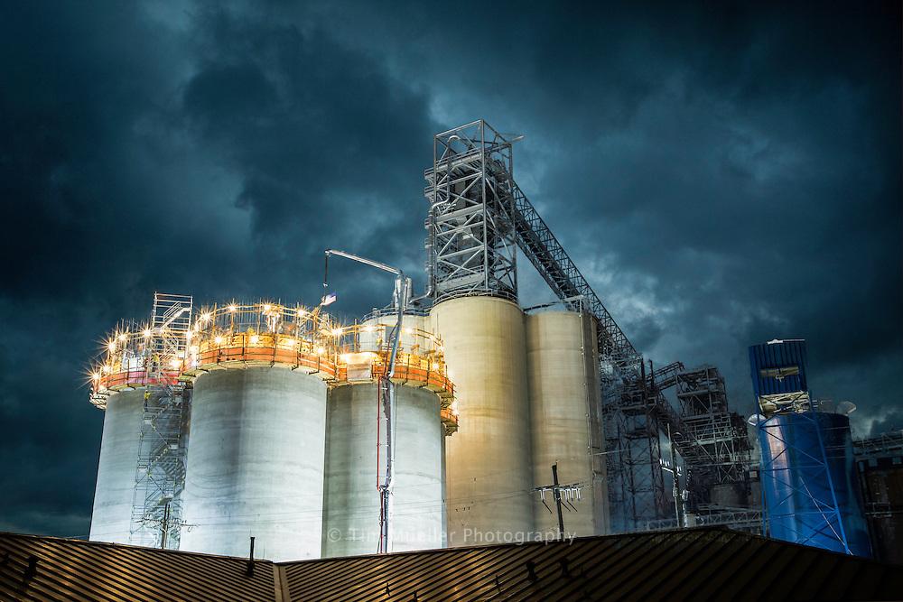 Louis Dreyfus continues construction on grain elevators at the Port of Greater Baton Rouge in Port Allen, La.