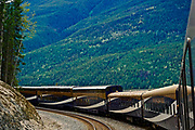 Rocky Mountaineer train, Canadian Cascade Mountains, British Columbia