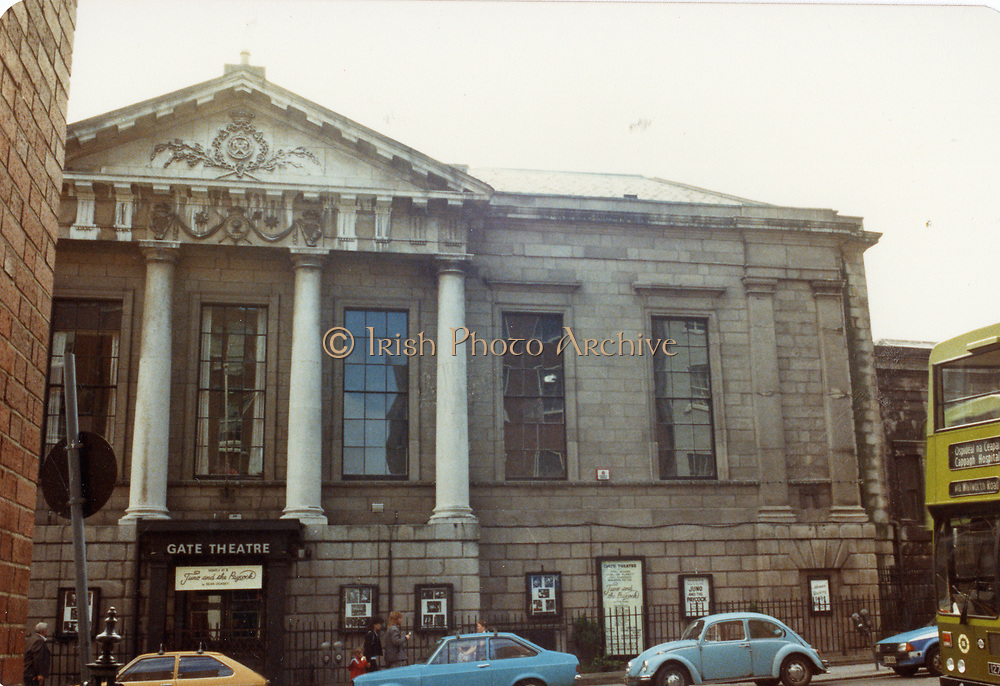 Old amateur photos of Dublin streets churches, cars, lanes, roads, shops schools, hospitals, gate theater Custom House, Gate Theather, Protestant Church, Temple St Hospital, St Georges Church, Abbey St, GPO July 1986 July 1986