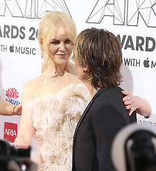 AU_1417395 - Sydney, AUSTRALIA  -  Nicole Kidman and Keith Urban with Nicole's niece Lucia on the Aria Awards Red Carpet Arrivals at the Star in Sydney, Australia<br /> <br /> Pictured: Nicole Kidman and Keith Urban<br /> <br /> BACKGRID Australia 28 NOVEMBER 2018 <br /> <br /> BYLINE MUST READ: FAMO / BACKGRID<br /> <br /> Phone: + 61 2 8719 0598<br /> Email:  photos@backgrid.com.au