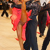 Daisuke Masuda and Mami Tsukada from Japan perform their dance in the Professional Latin competition of the United Kingdom Open Dance Championships held in Bournemouth International Centre, Bournemouth, United Kingdom. Thursday, 21. January 2010. ATTILA VOLGYI