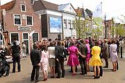 Koninginnedag 2008 / Queensday 2008. <br /> <br /> Koningin Beatrix viert Koninginnedag dit jaar in Friesland. De vorstin en haar familie bezochten op 30 april Makkum en Franeker.<br /> <br /> Queen Beatrix celebrates Queensday this year in Friesland (the Nothren provice in Holland). The Queen and its family visited Makkum and Franeker on 30 April.<br /> <br /> Op de foto/ On the Photo: The Royal Family in front of the Planetarium