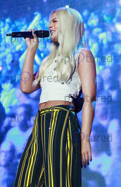 Louisa Johnson performs at the Girlguiding Big Gig 2017,SSE Arena Wembley, London UK, 07 October 2017, Photo by Tejas Sandhu