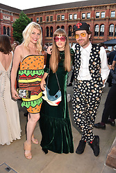 Meredith Ostrom, Philip Colbert and Charlotte Colbert at the Victoria & Albert Museum's Summer Party in partnership with Harrods at The V&A Museum, Exhibition Road, London, England. 20 June 2018.