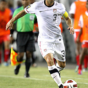 Team Captain Carlos Bocanegra (3) during a  CONCACAF Gold Cup soccer match between the United States and Panama on Saturday, June 11, 2011, at Raymond James Stadium in Tampa, Fla. (AP Photo/Alex Menendez)