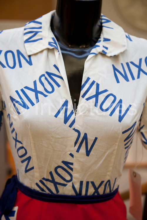 London, UK. Friday 23rd November 2012. Christies auction house showcasing memorabilia from every decade of the past century of popular culture from the industries of film and music. President Nixon supporters outfit.