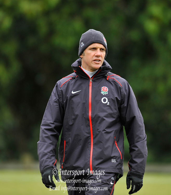 Pennyhill Park. Great Britain,  England attack coach Brian SMITH,, with the England rugby squad training at Pennyhill Park, in preparation for the opening game of the 2010 Six Nations Tournament. England vs Wales,  Tuesday  02/02/2010  [Mandatory Credit. Peter Spurrier/Intersport Images]