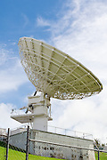 Telecommunications dish antenna used for transferring telephone calls and signals over satellite. <br /> <br /> Editions:- Open Edition Print / Stock Image