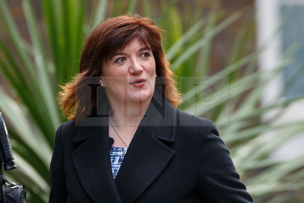 © Licensed to London News Pictures. 20/02/2016. London, UK. Education Secretary NICKY MORGAN attending a cabinet meeting in Downing Street on Saturday, 20 February 2016 after a deal made on the UK's EU membership in Brussels. Photo credit: Tolga Akmen/LNP