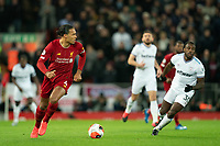 Football - 2019 / 2020 Premier League - Liverpool vs. West Ham United<br /> Liverpool's Virgil van Dijk (c) in action during todays match    , at Anfield.<br /> <br /> COLORSPORT/TERRY DONNELLY
