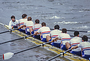 Henley on Thames,  United Kingdom, GBR M8+ cox, Simon JEFFRIES, witht he call, 1988 Henley Royal Regatta, Henley Reach, Thames Valley, British Summertime.<br /> [Mandatory Credit, Peter SPURRIER/Intersport Images] <br /> <br /> Scans from Positives, April 2019
